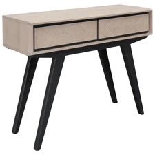 Otta 2 Drawer Narrow Wood Console Table