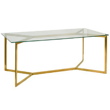 Gold Nilly Glass Dining Table