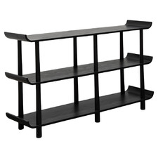 Black Remi 3 Tier Shelving Unit