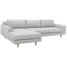 Light Grey Shauna 3 Seater Sofa with Chaise