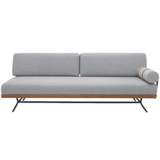 Grey Irfan 3 Seater Fabric Sofa
