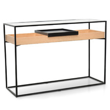 Bobbi Metal Frame Console Table