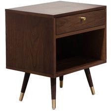Dark Timber Valiente Bedside Table