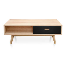 Natural & Black Rocco Coffee Table