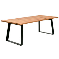 Natural Amaury Sleigh Legs Dining Table