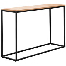Natural & Black Amaury Console Table