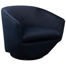 Valter Swivel Velvet Armchair
