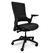 Black Muller Ergonomic Faux Leather Office Chair