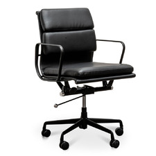 Black Fenster Faux Leather Boardroom Office Chair