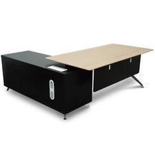Natural & Black Konarske Executive Office Desk