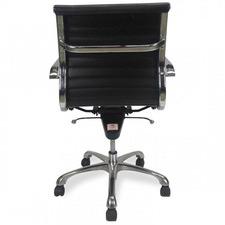 Black Stein Italian Leather Office Chair
