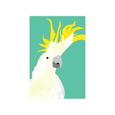Dancing Cockatoo Modern Printed Wall Art
