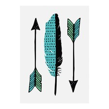 Little Arrows Modern Printed Wall Art