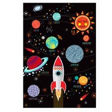 Space Explorer Printed Wall Art