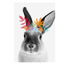 Woodsy Bunny Printed Wall Art