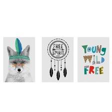 Free Spirit Printed Wall Art (Set of 3)