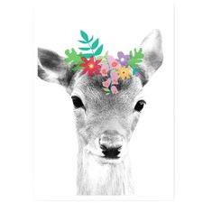 Daisy Deer Unframed Paper Print
