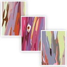 Rainbow Gums Unframed Paper Print Triptych