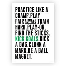Kick Goals Unframed Paper Print