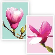 2 Piece Sweet Magnolias Unframed Paper Print Set