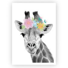 Pretty Giraffe Unframed Paper Print
