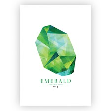 Emerald May Birthstone Unframed Paper Print