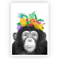 Tutti Fruity Chimp Unframed Paper Print