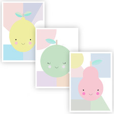 The Tutti Fruities Unframed Paper Print Triptych