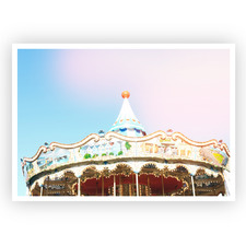 Come to the Carousel Unframed Paper Print