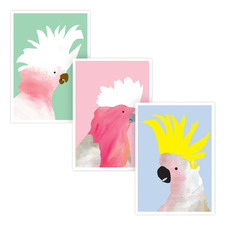 Fancy Feathers Printed Wall Art Triptych