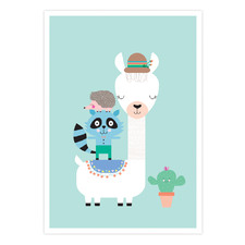 Lucky Llama Printed Wall Art