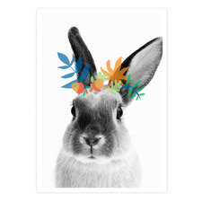 Bunny Boy Printed Wall Art