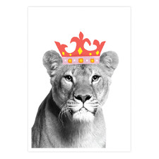 Lion Queen Printed Wall Art