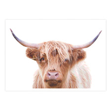 Hairy Highland Cow Printed Wall Art