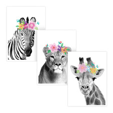 The Flower Girls Printed Wall Art Triptych