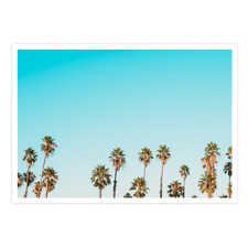 Blue California Dreaming Printed Wall Art