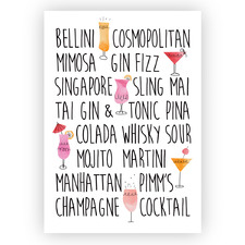 Cocktail Time Printed Wall Art