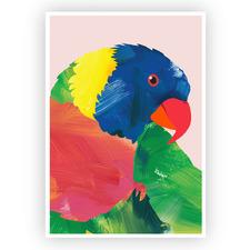 Rainbow Lorikeet Printed Wall Art