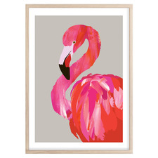 Fancy Flamingo Printed Wall Art