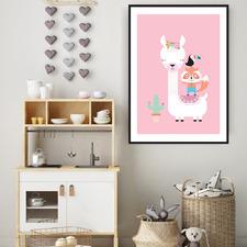 Lulu Llama Printed Wall Art
