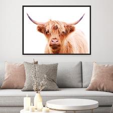 Hairy Highland Cow Printed Wall Art