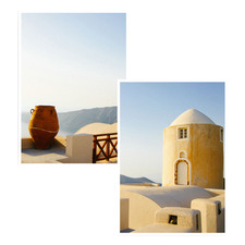 Terracotta & Stone Printed Wall Art Diptych