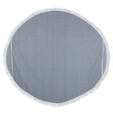 Round Solid Waffle Turkish Style Towel