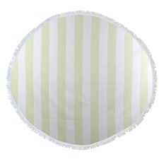 Round Bold Stripe Turkish Style Towel in Lime