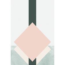 Geo Square Cream Canvas