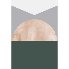 Geo Triangle Cone Green Canvas