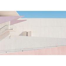 LA Building Blush Canvas