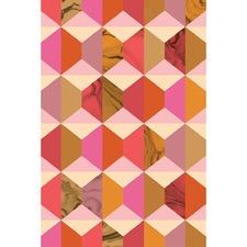 Geo Hexagon Sunset Print