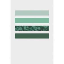 Green Lines Print