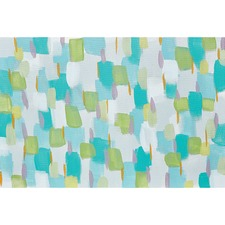 Blue and Green Strokes Canvas